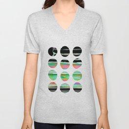 colorful circles pattern design Unisex V-Neck