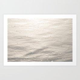 Glowing Waves Art Print