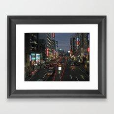 Tokyo Nightwander Framed Art Print