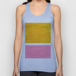 Pastel Yellow Pink Rothko Minimalist Mid Century Abstract Color Field Squares Unisex Tank Top