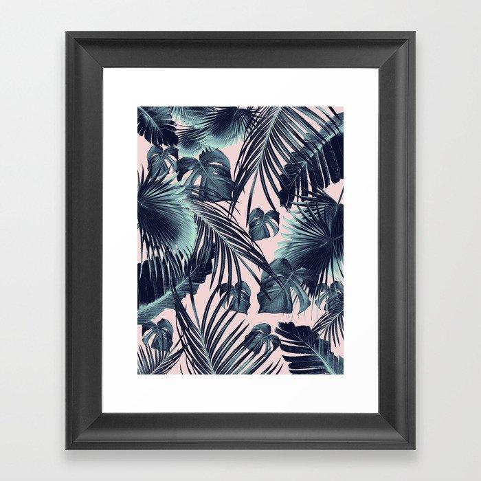 Tropical Jungle Leaves Dream #2 #tropical #decor #art #society6 Gerahmter Kunstdruck