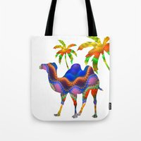 camel Tote Bags featuring Camel by haroulita