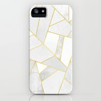 iPhone 5/5s Case featuring White Stone by Elisabeth Fredriksson