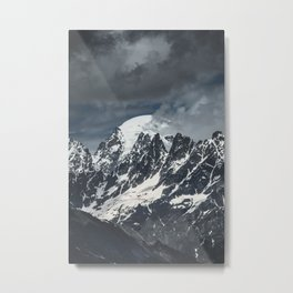 Mountains of Georgia || Peaks || Caucasus || Snowy Tops || Madara Travels Metal Print