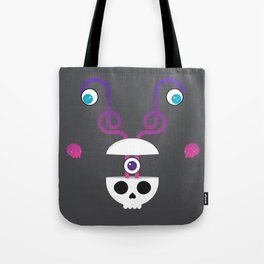 Skull's Brain is Unravelling & Its Friends Came for the Party Tote Bag