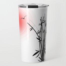 Bambus im Morgenrot Travel Mug