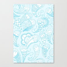 Ghostly Paisley Canvas Print