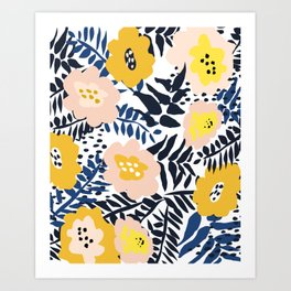 Outdoor: florals matching to design for a happy life Art Print