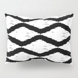 Black and White Tribal Ikat Pattern Pillow Sham