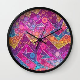 Rave Bubbles At Sunrise Wall Clock