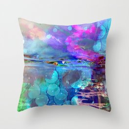 Abstract Blurs . Throw Pillow