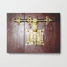 Big Brass Door Lock  Metal Print