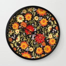 Shabby flowers #21 Wall Clock