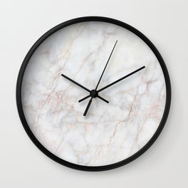 White Marble 004 Wall Clock