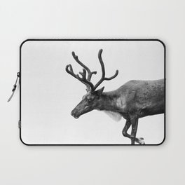 Animal Photography | Reindeer Minimalism | Antlers Christmas | Rudolf Laptop Sleeve