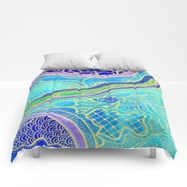 Tangle lagoon Comforters