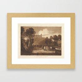 Joseph Mallord William Turner , (British, London 1775–1851 London), St. Catharine's Hill near,Guilfo Framed Art Print
