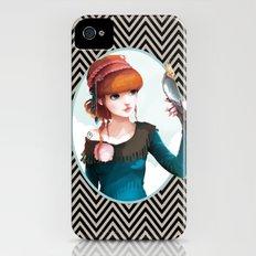 Rose et l'oiseau iPhone (4, 4s) Slim Case
