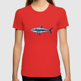 Pattern: Great White Shark  ~ Light Blue ~ (Copyright 2015) T-shirt