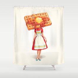 Waffle Housewife Shower Curtain