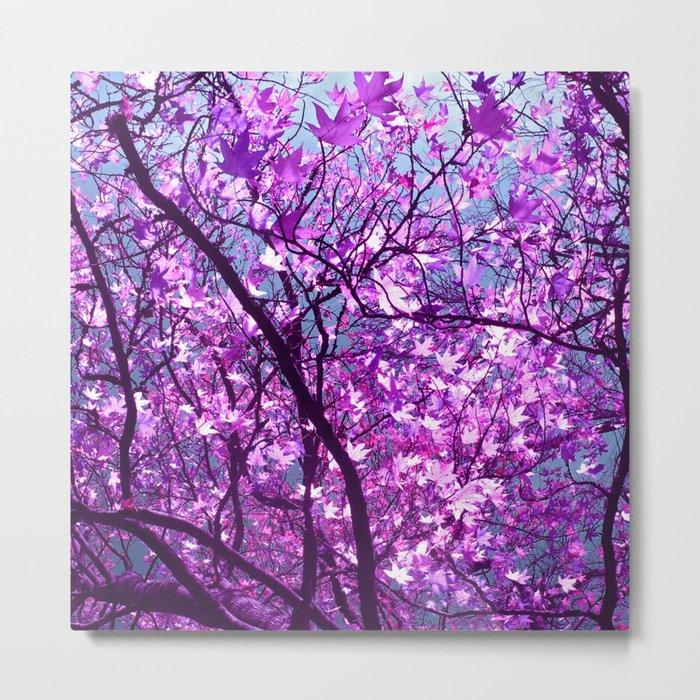 purple tree XXXIII Metal Print