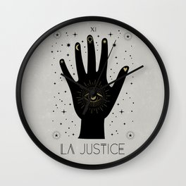 La Justice or The Justice Tarot Wall Clock