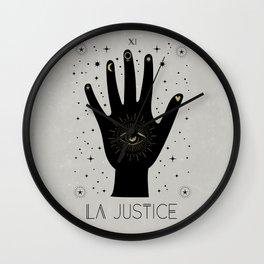 La Justice or The Justice Tarot Wall Clock