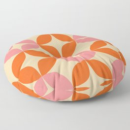 Mid Century Modern Pattern in Pink and Orange Floor Pillow