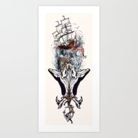 nautical Art Prints featuring Nautical by Krys10design
