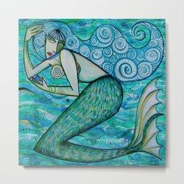 Turquoise Mermaid Metal Print