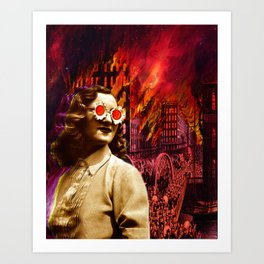 Let it burn Art Print