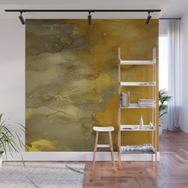 Gold and Bronze Watercolor Wall Mural