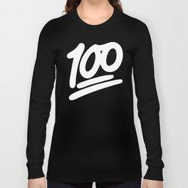 100 EMOJI WHITE Long Sleeve T-shirt