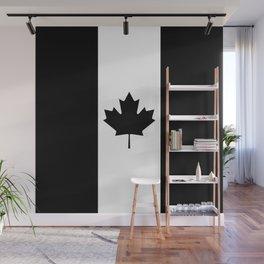 Canada: Black Military Flag Wall Mural
