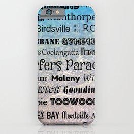 Queensland Poster iPhone Case