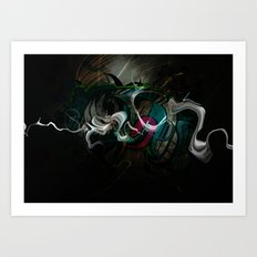 White Dragon Art Print
