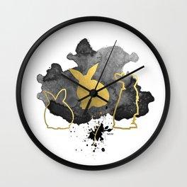 Bunnies Version 3 Wall Clock