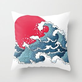 The Second Great Wave Throw Pillow