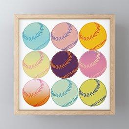 Pop Art Baseballs Framed Mini Art Print
