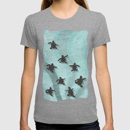 Loggerhead sea turtle hatchlings T-shirt