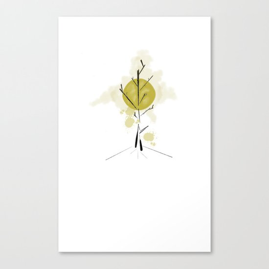 Moonlight Tree Canvas Print