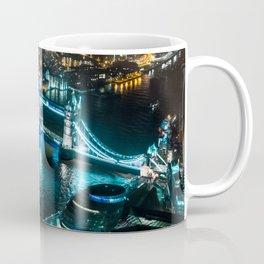 Aerial view of Tower Bridge at Night Coffee Mug