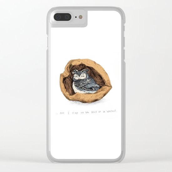 Belly of a Walnut Clear iPhone Case