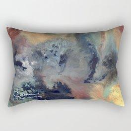 Abstract Floral Swirl Rectangular Pillow