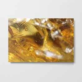 Glass Macro Metal Print