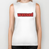 wasted rita Biker Tanks featuring Wasted by Yiannis