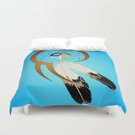 dreamcatcher blue Duvet Cover