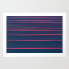 Endless swell lines Art Print