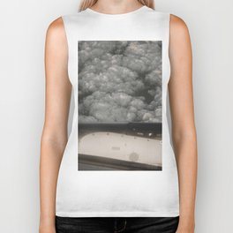 Metal and clouds Biker Tank