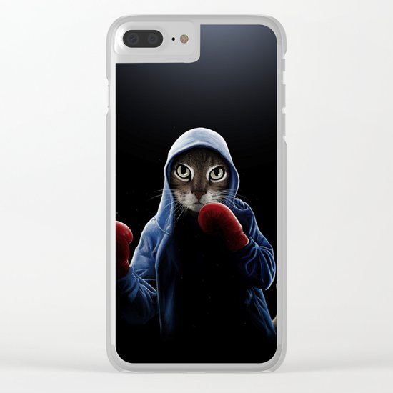 Boxing Cool Cat Clear iPhone Case